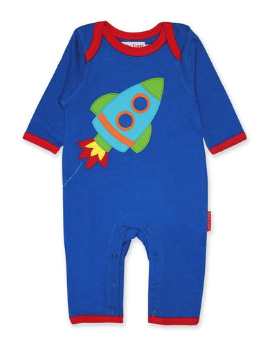 Toby Tiger Organic Rocket Sleepsuit - Say It Baby