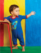 Load image into Gallery viewer, Toby Tiger Organic Rocket Sleepsuit - Say It Baby