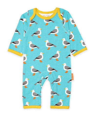 Toby Tiger Organic Seagull Sleepsuit - Say It Baby