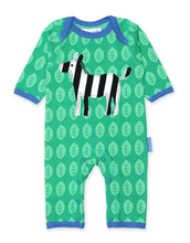 Load image into Gallery viewer, Toby Tiger Organic Zebra Sleepsuit