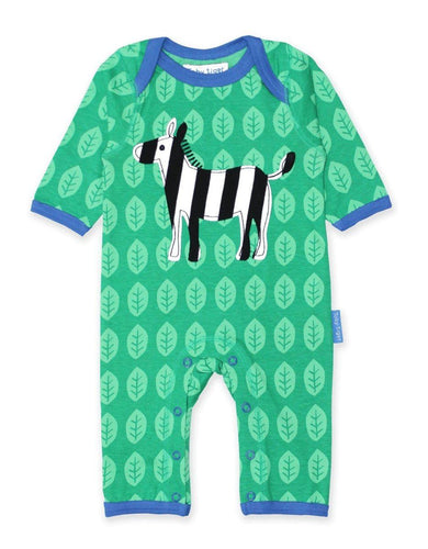 Toby Tiger Organic Zebra Sleepsuit - Say It Baby