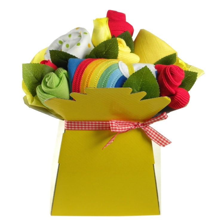 Toby Tiger Unisex Rainbow Clothes Bouquet - Say It Baby