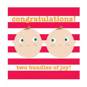 Congratulations - Two Bundles of Joy Twins Card - Say It Baby