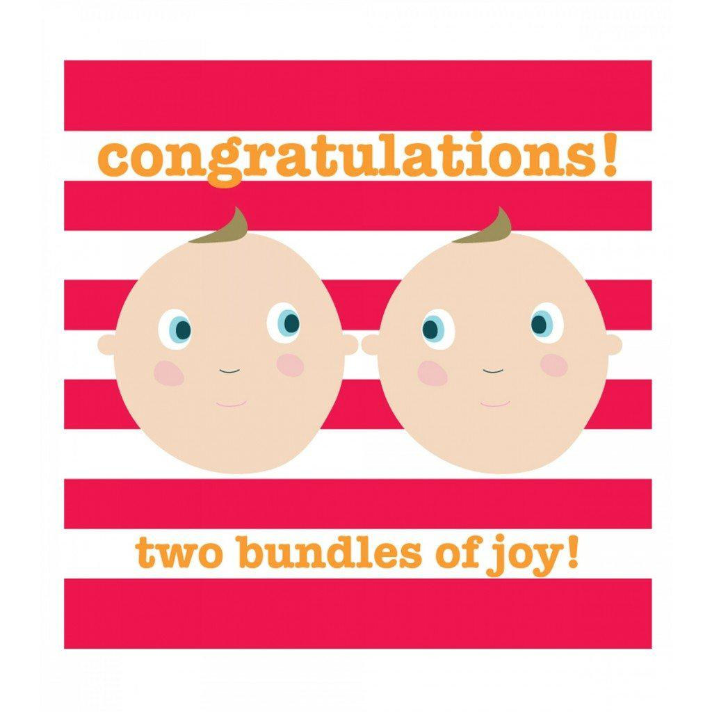 Congratulations - Two Bundles of Joy Twins Card