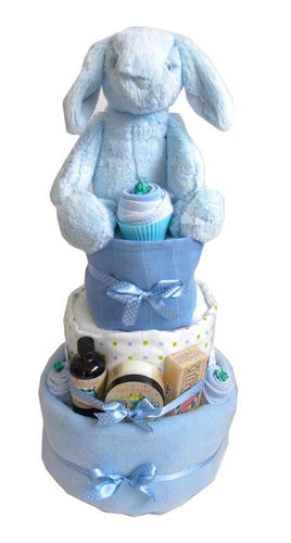 Large 3 Tier Baby Boy Nappy Cake - Say It Baby