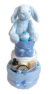 Large 3 Tier Baby Boy Nappy Cake