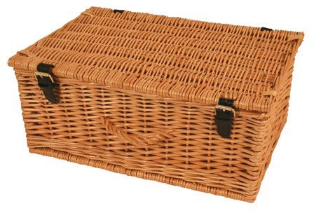 Willow Hamper With Lid - Say It Baby