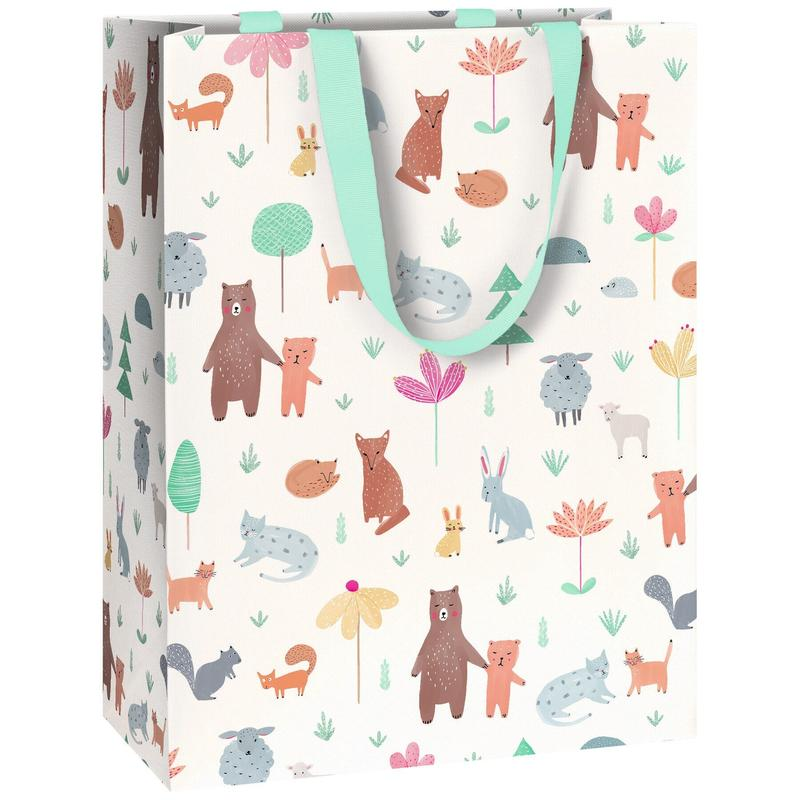 Woodland Animals Gift Bag - Say It Baby