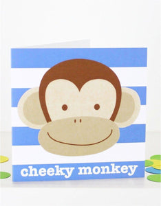 Cheeky Monkey Card - Say It Baby
