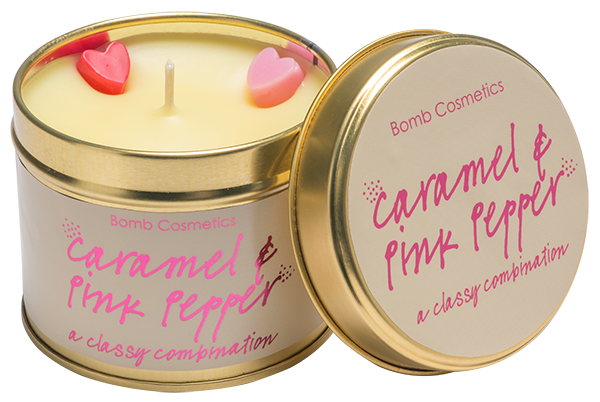 Caramel and Pink Pepper Tin Candle - Say It Baby