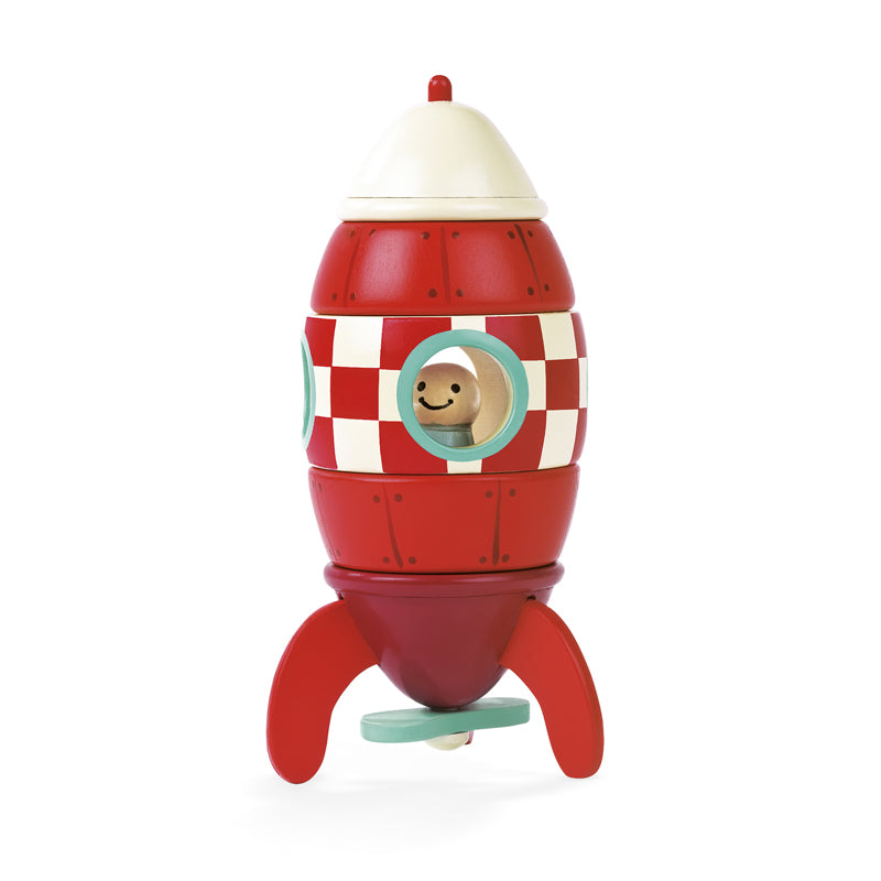 Janod Wooden Magnetic Rocket - Say It Baby