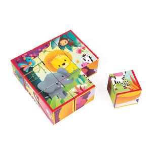 Janod Jungle Blocks Animal Puzzle - Say It Baby