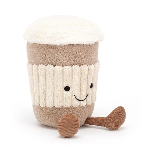Start the morning with a smile with this Jellycat Amuseable Coffee-To-Go.