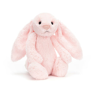 Pink Jellycat bunny in the Bath Time Baby Girl Gift Basket