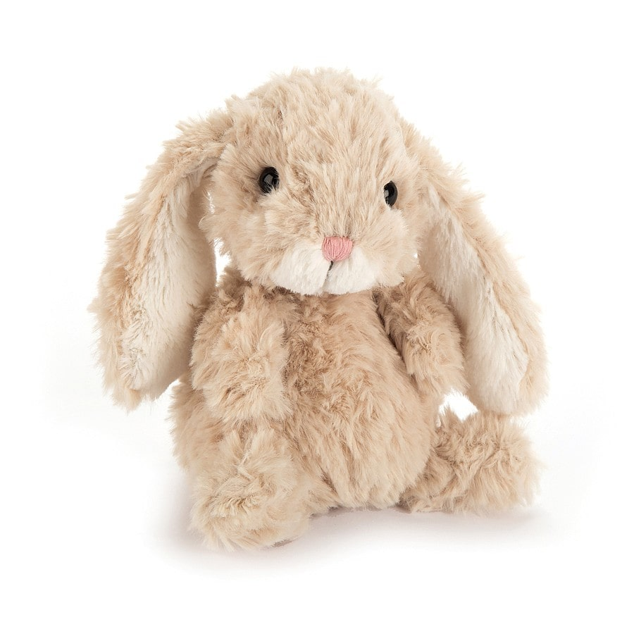 Tiny, tousled yet terrific Jellycat Yummy Bunny is the perfect pocket sized companion!
