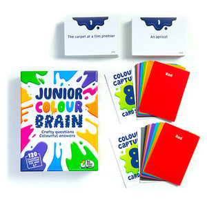 Junior Colourbrain With 120 colourful questions - it's a fantastic game with specially designed questions for kids.