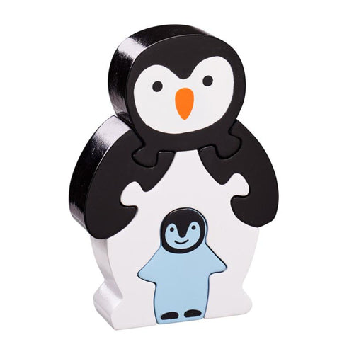 Lanka Kade 5 Piece Penguin and Baby Jigsaw. Fair Trade Wooden Toy. Say It Baby Gifts