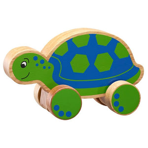 Lanka Kade Turtle Push Along Toy Wooden Toy Fairtrade Say It Baby Gifts