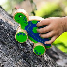 Load image into Gallery viewer, Lanka Kade Turtle Push Along Toy Wooden Toy Fairtrade Say It Baby Gifts