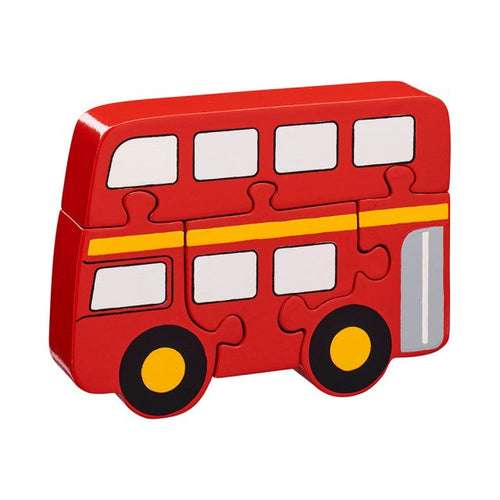 Lanka Kade 5 Piece Bus Jigsaw Fairtrade Wooden Toy Say It Baby Gifts