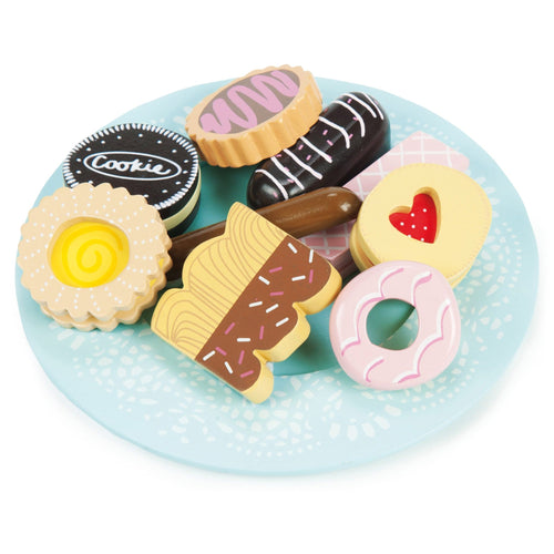 Le Toy Van Biscuit and Plate Set - wooden toy set