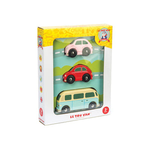 Le Toy Van Retro Metro Car Set - in box