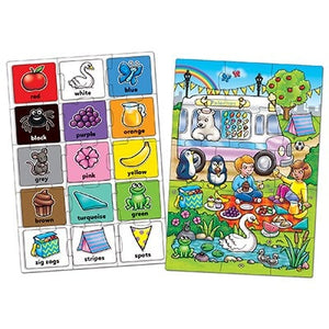 Look and Find... Colour Jigsaw by Orchard Toys - two 15-piece colour activity jigsaws in one box.