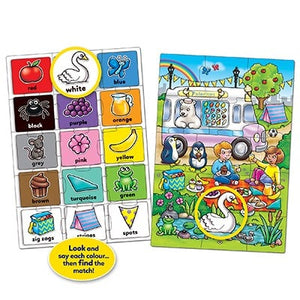 Look and find jigsaw puzzle - After piecing together both the puzzles, children can use them together by matching the items shown on both to encourage them to identify shapes and patterns.