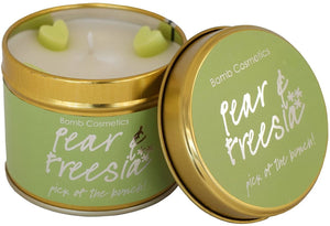 Pear and Fressia Tin Candle - Say It Baby