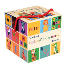 Load image into Gallery viewer, Rex London Colourful Creatures Stacking Blocks - Say It Baby