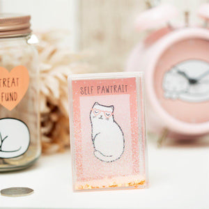 Sass & Belle Cutie Cat Confetti Photo Frame - Say It Baby