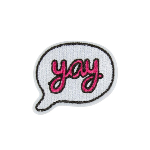 Sass & Belle Iron on Patch - Yay - Say It Baby
