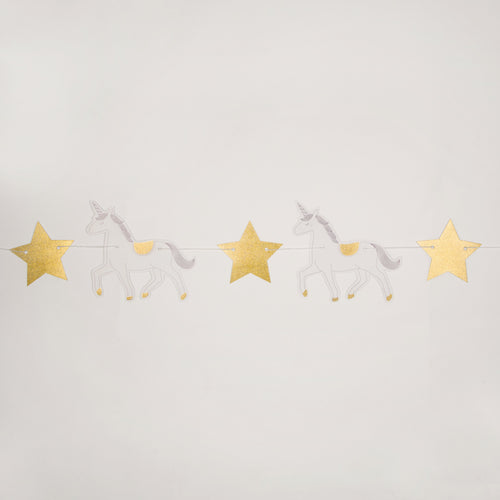 Sass & Belle Princess Unicorn Paper Bunting