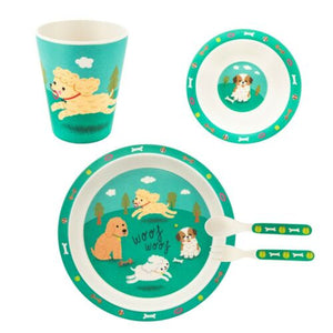 Sass & Belle Puppy Dog Playtime Bamboo Tableware Set - Say It Baby