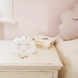 Cloud Shaped Money Box - This lovely first money box from Sass & Belle is a beautiful gift for a new baby's room.