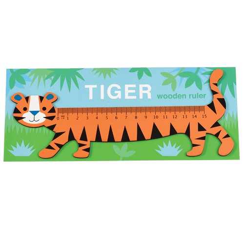 Rex London Tiger Wooden Ruler - Say It Baby Gifts