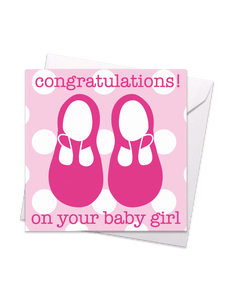 Congratulations on Your Baby Girl Card - Say It Baby