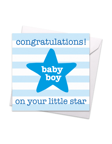 Little Star Baby Boy Card - Say It Baby