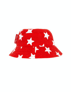 Toby Tiger Red Star Reversible Sun Hat - Say It Baby