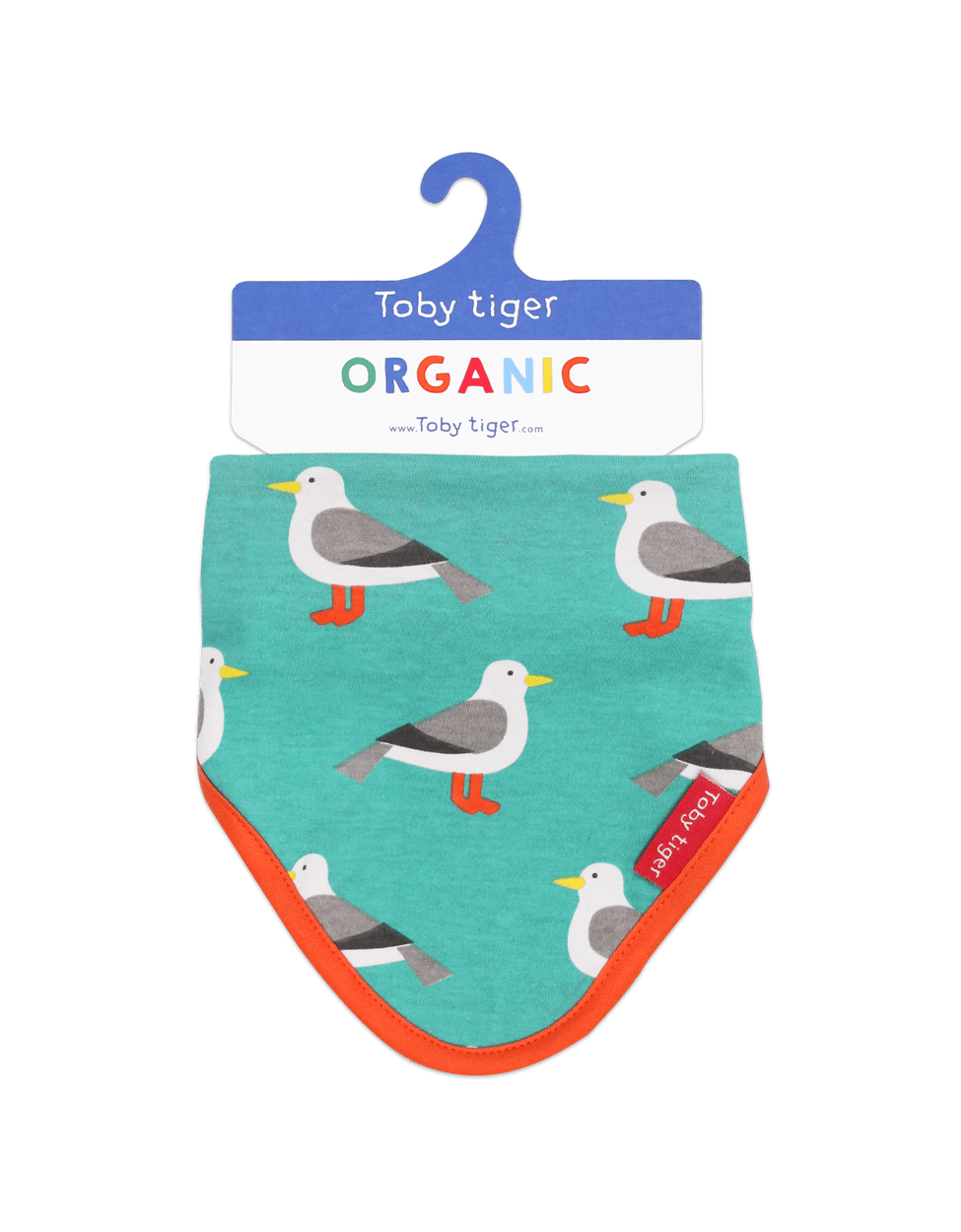 Toby Tiger Organic Seagull Dribble Bib - Say It Baby