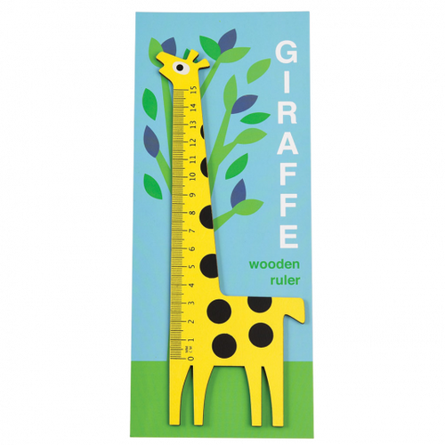 Rex London Yellow Giraffe Wooden Ruler - Say It Baby Gifts