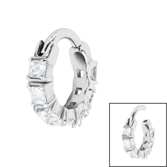 Claw Set Edge Jewelled Clicker Ring