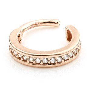 14ct Rose Gold Channel Ring
