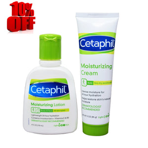Cetaphil Moisturizing Cream and Cetaphil Moisturizing Lotion