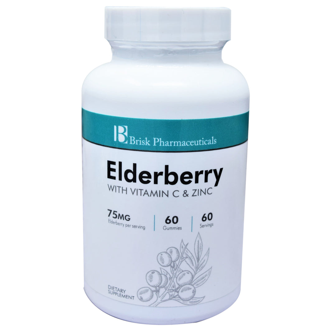 Elderberry with Vitamin C and Zinc 75mg 60 Gummies