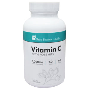 Vitamin C with Rose Hips 1000mg 60 Tablets