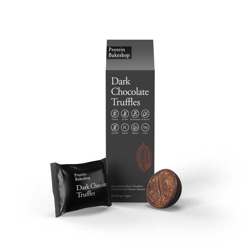 Protein Bake Shop Dark Chocolate Truffles - 60g
