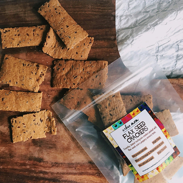 Urban Mom Flax Seed Crackers