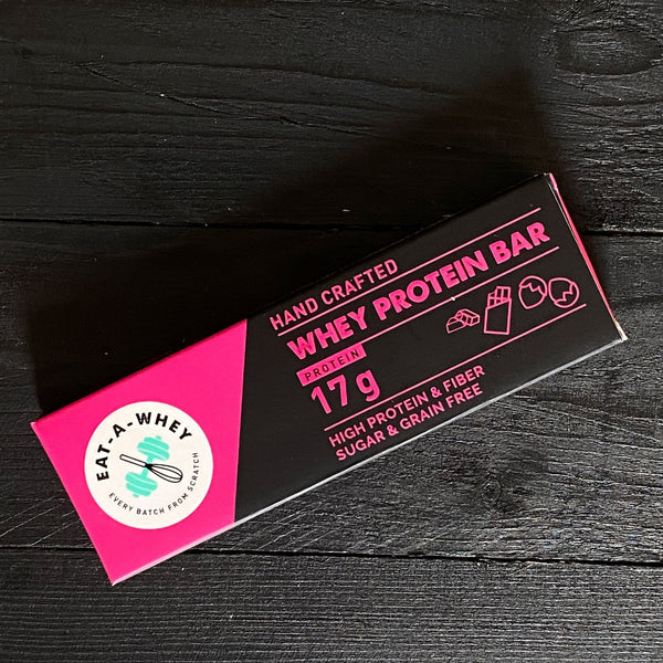 Eat-A-Whey Dark Chocolate Hazelnut Grain-Free Bar (17gms of Protein)