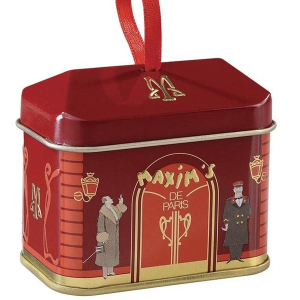 Maxim's Small House Roof Tin with chocolates